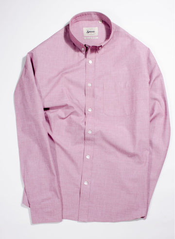 Pink Fil A Fil Button Down Shirt