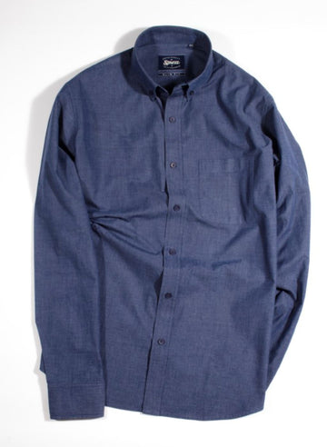 Navy Blue Fil A Fil Button Down Shirt