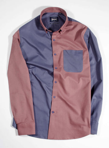 Dual Color Block Oxford Shirt