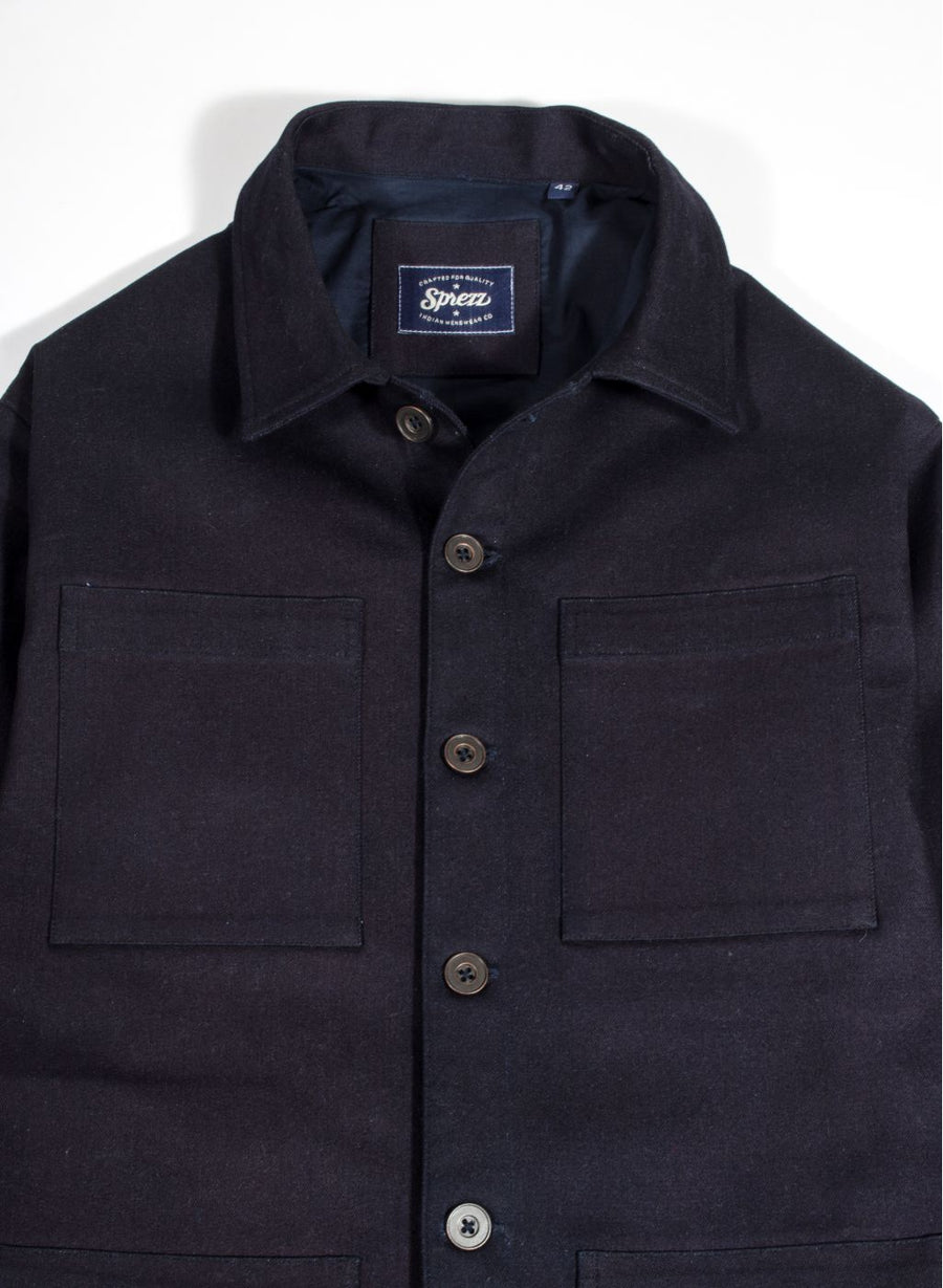 Raw Denim French Workwear Jacket