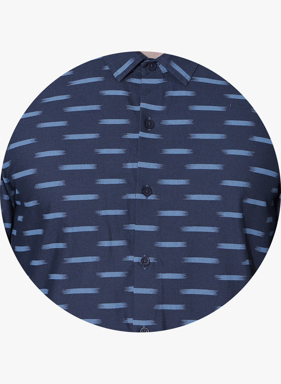 Ikat Oxford Cutaway Collar Shirt