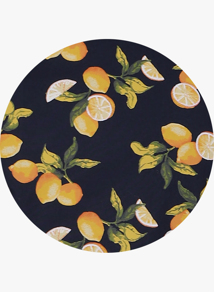 Citrus Print Half Sleeves Shirt