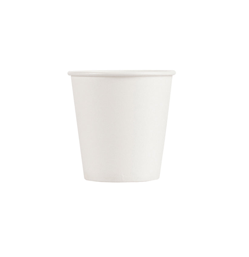 6.5OZ PAPER HOT CUPS - WHITE - 1,000 CT