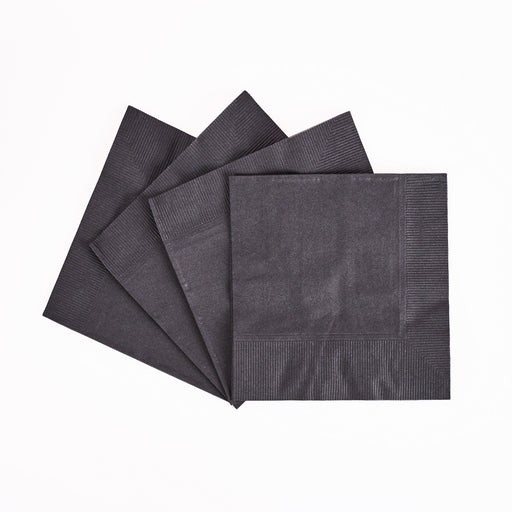 Beverage Napkin Black 10 x 10 2Ply (1,000/pcs) Karat