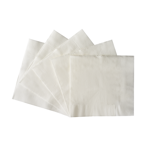 Beverage Napkin White 10 x 10 2ply Premium (3,000/cs)