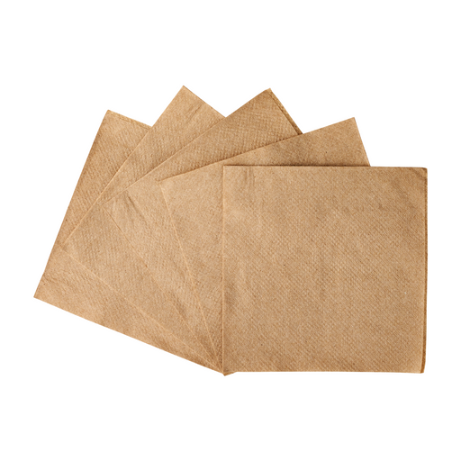 Beverage Napkin Kraft 9 x 9 1 Ply (4,000/cs)
