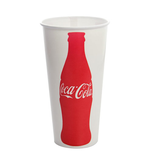 22oz Paper Cold Cups - Coca Cola (90MM) - (1,000/cs), C-KCP22 (Coke)