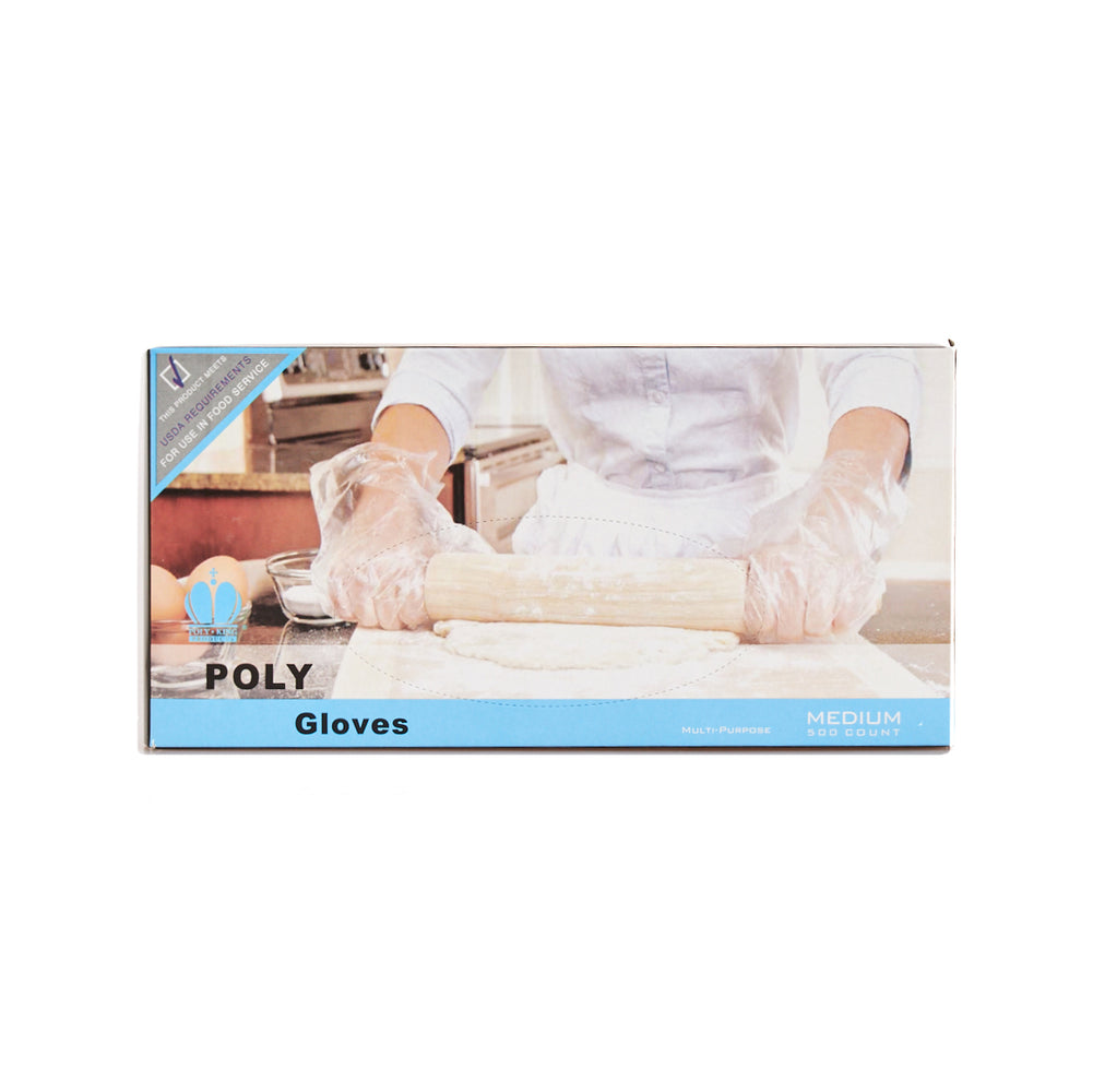 Poly Glove 1509-1 Medium 500ps/10box