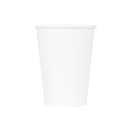 12OZ PAPER HOT CUPS - WHITE (90MM) - 1,000 CT