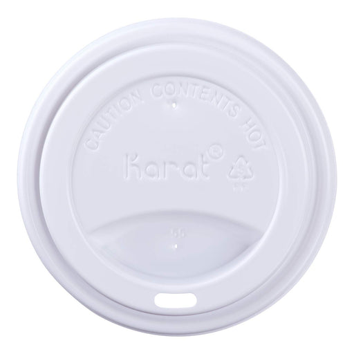 SIPPER DOME LIDS FOR 10OZ ~ 24OZ HOT CUPS WHITE (1,000/CS)