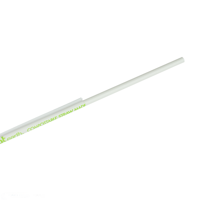 "KARAT EARTH 10.25"" JUMBO PAPER STRAW (5MM) WRAPPED - WHITE (1,200 CT)"