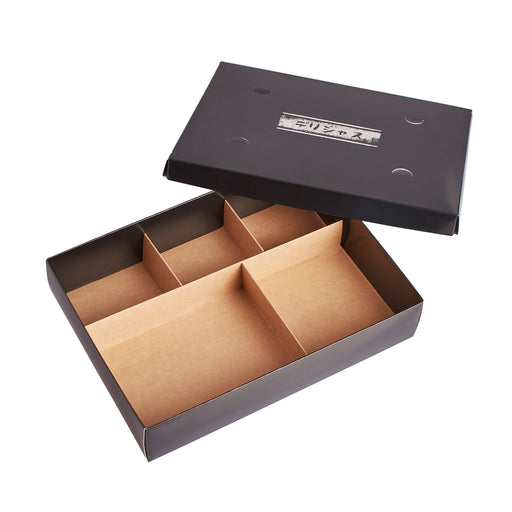 JAPANESE PAPER TOGO BENTO BOX (BLACK) -200/pcs