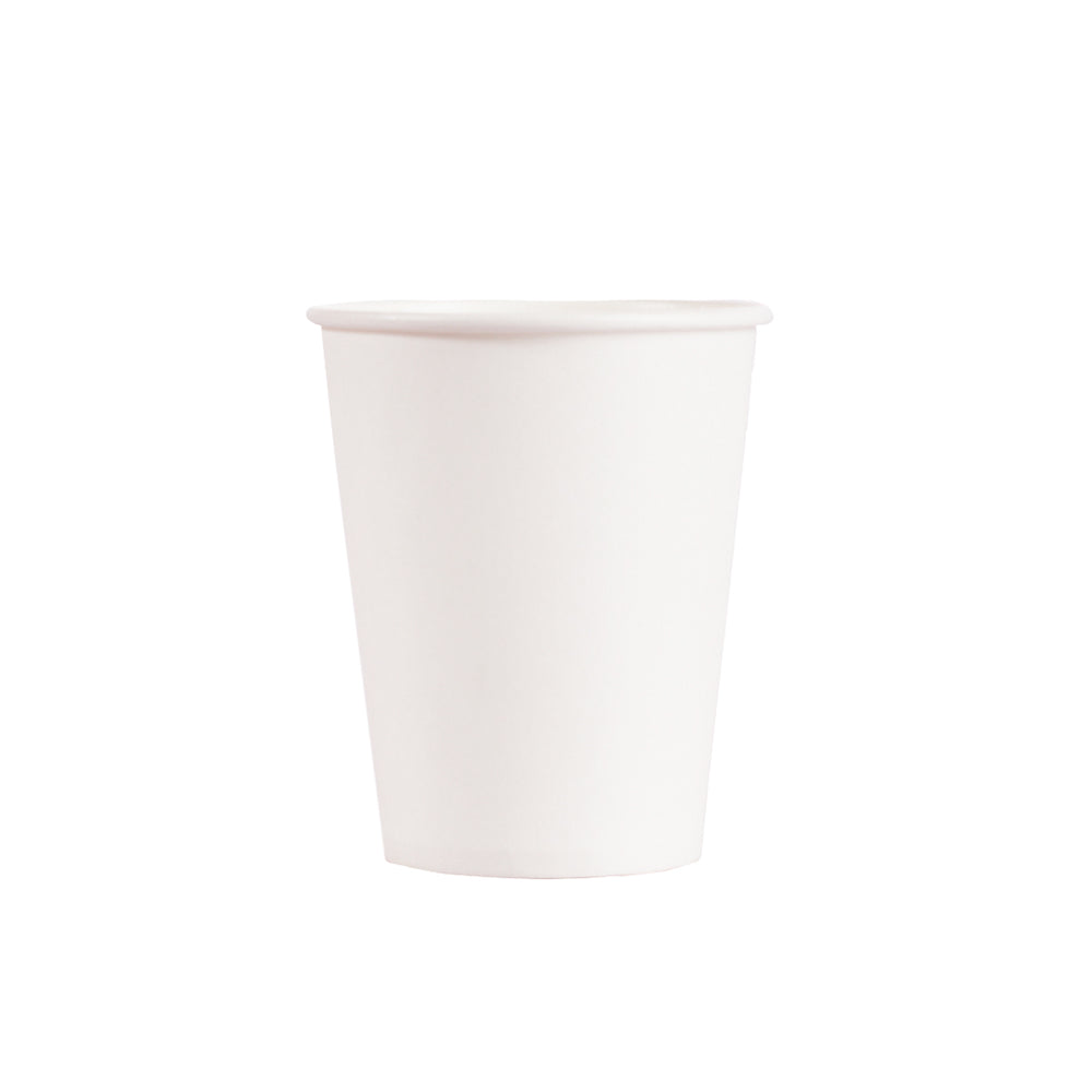 9OZ PAPER HOT CUPS - WHITE - 1,000 CT