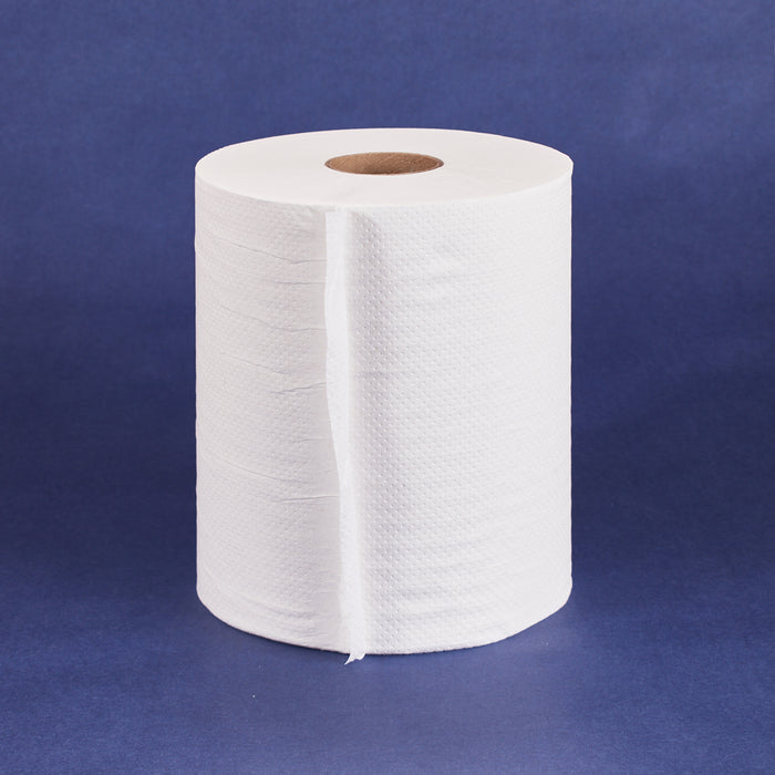 PaperTowel Roll 1Ply 600ft White (12 Roll/cs) 37-423