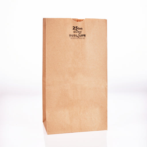 Grocery Shorty Bag Kraft Recycle 8.1/4x6.1/8x13.7/8 (500bl/cs) 18428