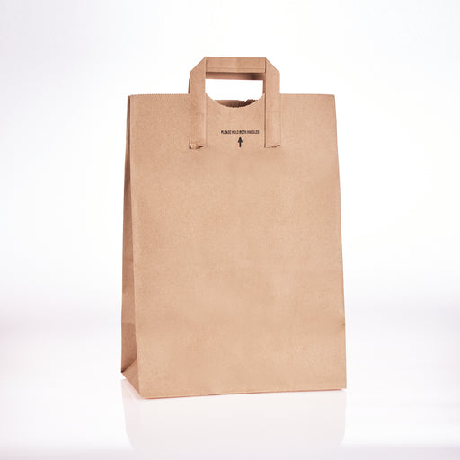 Brown Handle Paper Bag 12x7x17 (300/cs) 88885