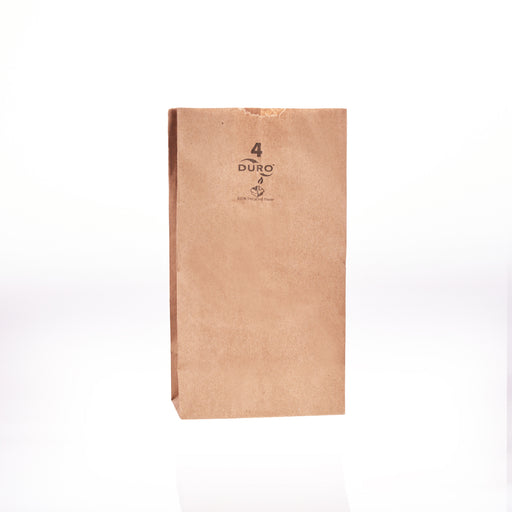 Kraft Brown Paper Bag #4 5x3 1/8x9 3/4 (500bl/cs)