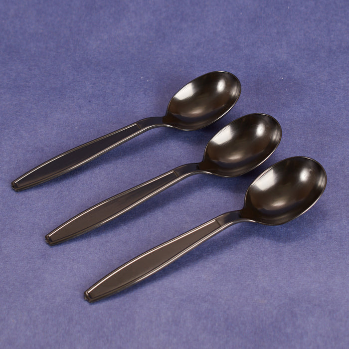 Soup Spoon, Extra Heavy Weight/Black (1000/cs)_PP