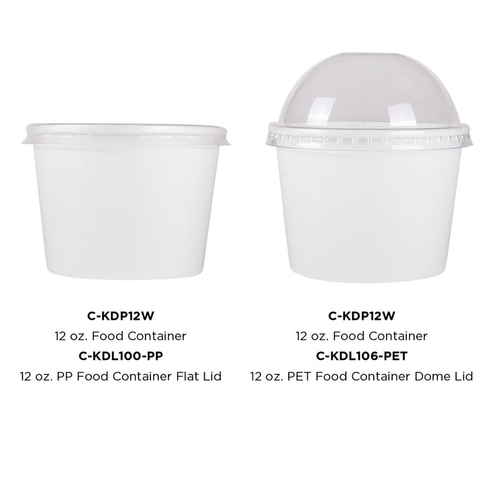 12oz Food Container White