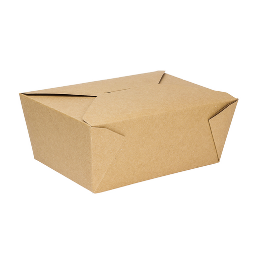 #4 Kraft Fold-To-Go Box 110oz 160ct