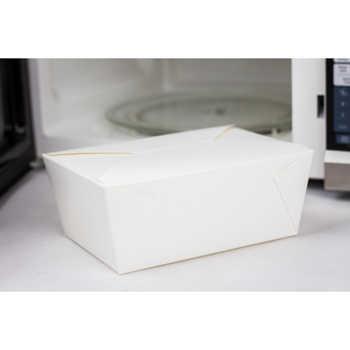 #4 White Fold-To-Go Box 110oz 160ct