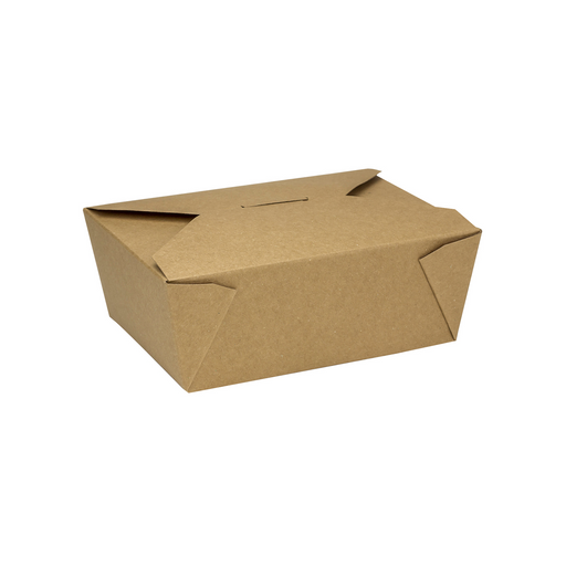 #8 Kraft Fold-To-Go Box 48oz 300ct