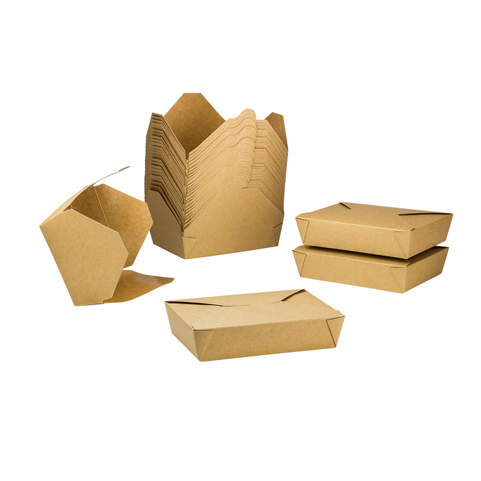 #2 Kraft Fold-To-Go Box 54oz 200ct