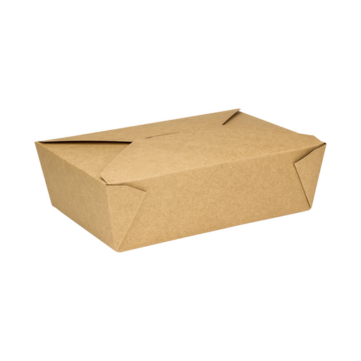 #3 Kraft Fold-To-Go Box 76oz 200ct