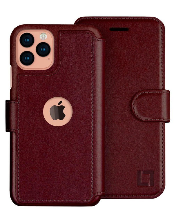 iPhone 12 Pro Max Wallet Case Lupa Legacy Burgundy