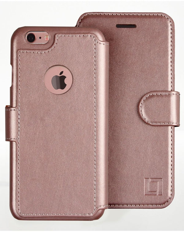 iPhone 7 Wallet Case LUPA Legacy Rose gold