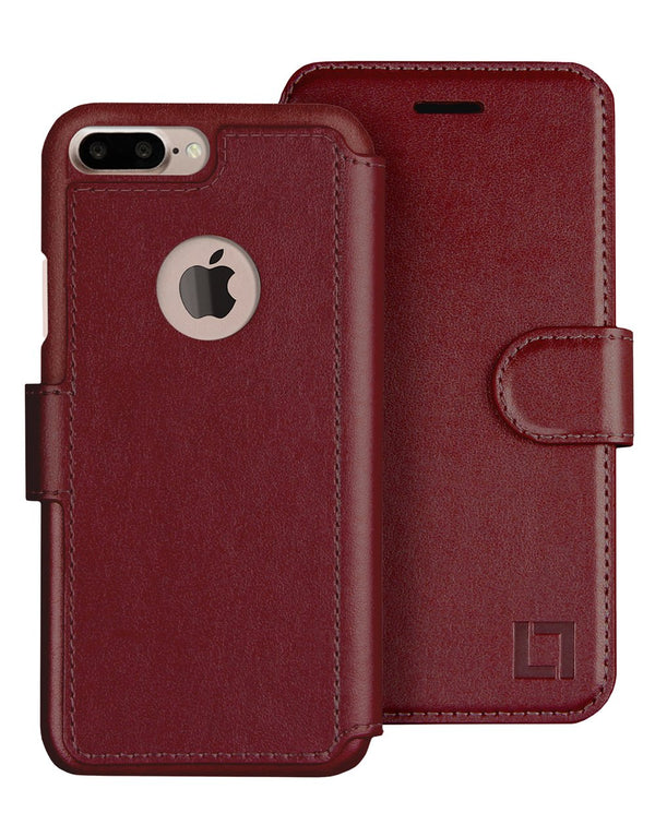 iPhone 7 Plus Wallet Case LUPA Legacy Burgundy