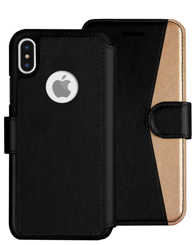 iPhone X/Xs Wallet Case LUPA Legacy Black and Gold