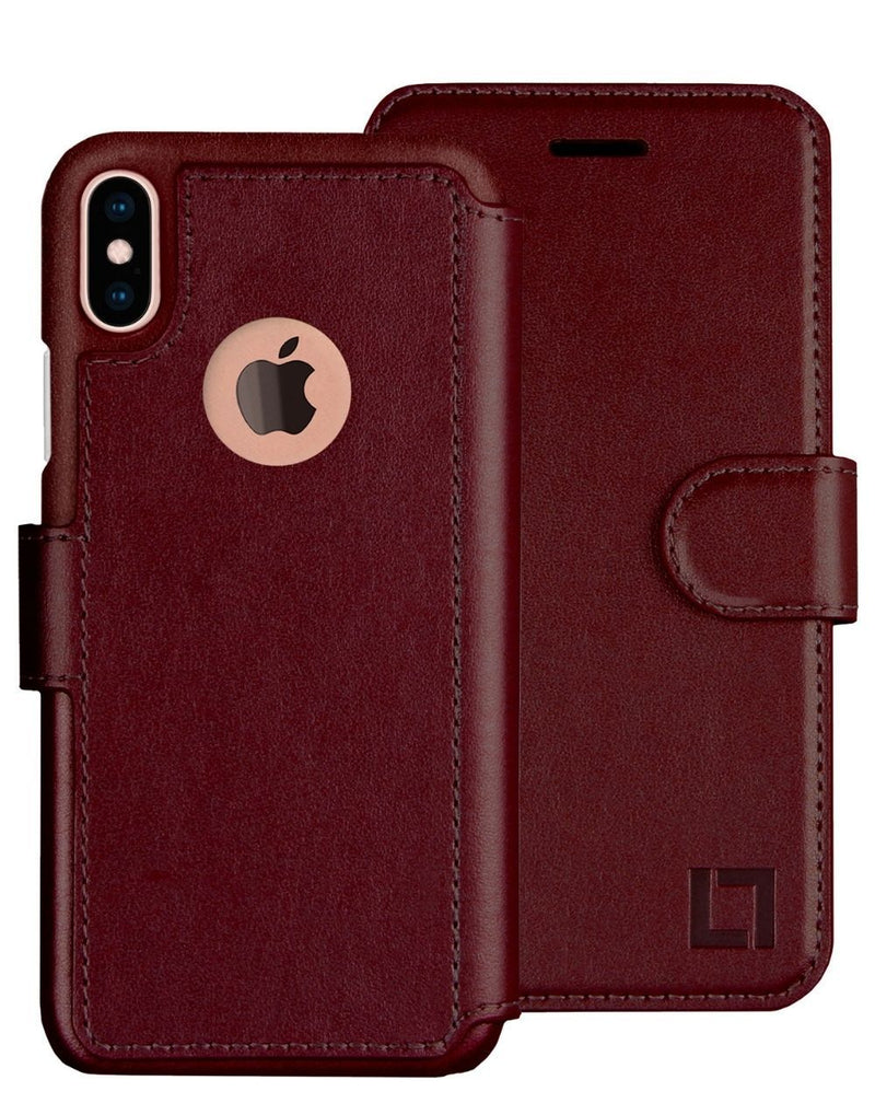 iPhone X/Xs Wallet Case LUPA Legacy Burgundy