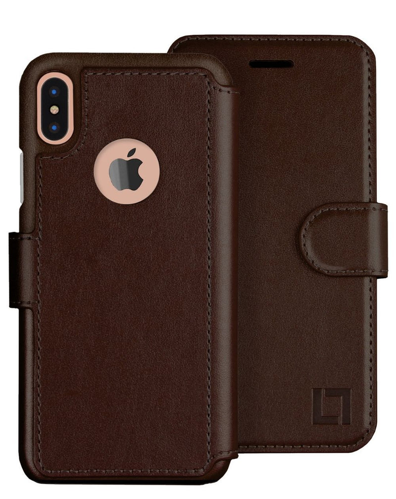iPhone X/Xs Wallet Case LUPA Legacy Dark Brown