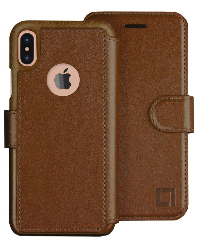 iPhone X/Xs Wallet Case LUPA Legacy Light Brown