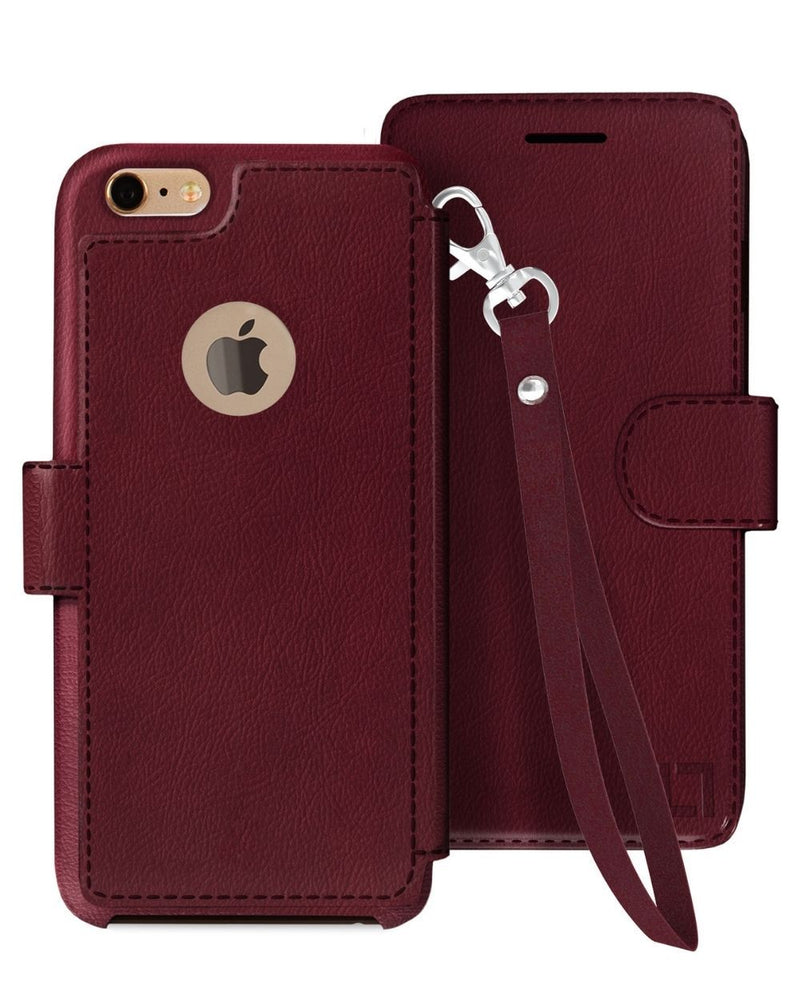 iPhone 6/6s Wallet Case LUPA Legacy Wristlet Burgundy