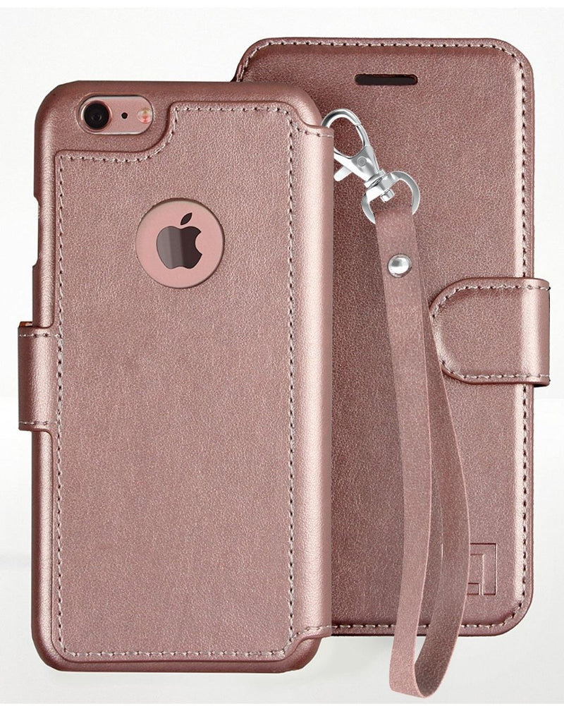 iPhone 6/6s Wallet Case LUPA Legacy Wristlet Rose Gold