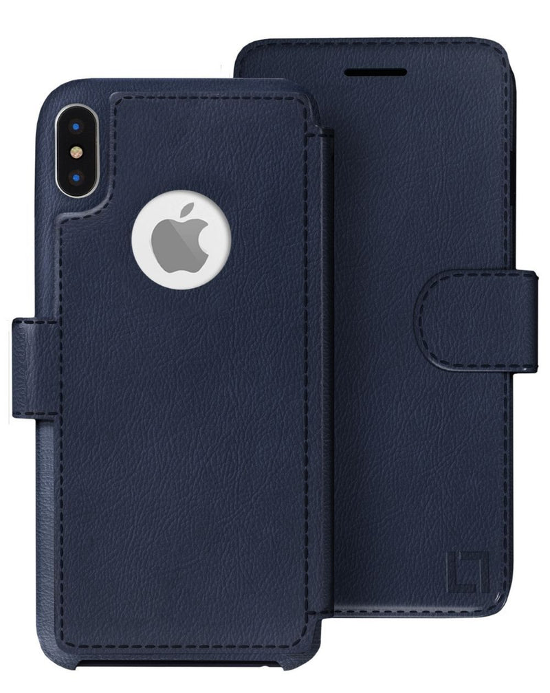 iPhone X/Xs Wallet Case LUPA Legacy Navy Blue