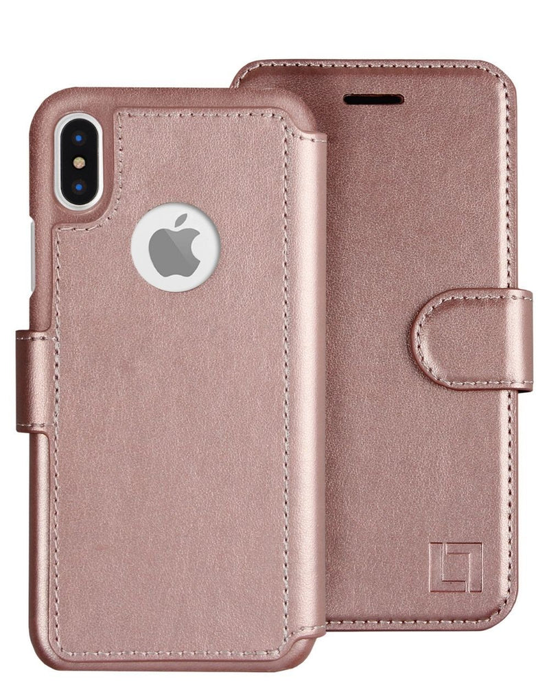 iPhone X/Xs Wallet Case LUPA Legacy Rose Gold