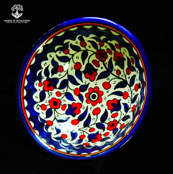 Hand-Painted Serving Bowl, Medium