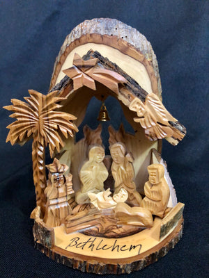 Rustic Hand-Carved Nativity