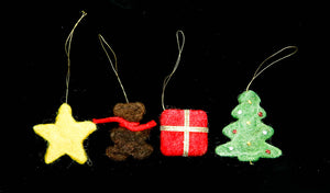 Christmas Ornaments - Set of 4