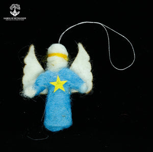 Christmas Angel with Star-100% Sheep's Wool