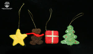 Christmas Ornaments-100% Sheep's Wool