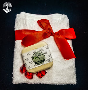 Olive Oil Soap Gift Set, Red
