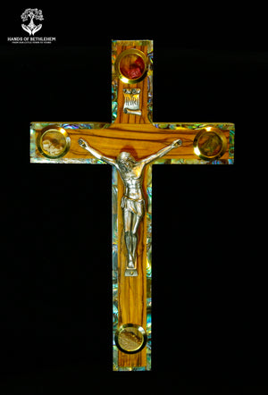 Cross-Crucifix with Mother of Pearl Accents