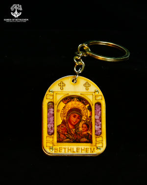 Keychain-Mary with Baby Jesus Icon