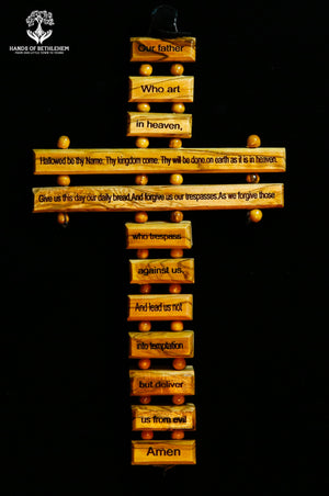 Cross with Lord's Prayer-Small