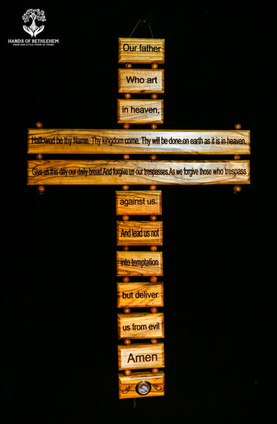 Cross with Lord's Prayer-Large