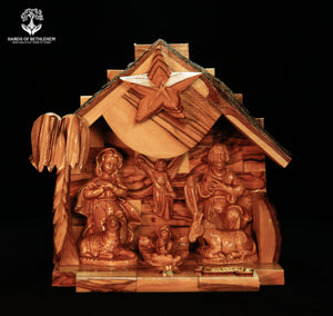 Nativity-Musical Nativity with Gypsum Figures